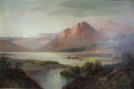 "W. Richards (F.E Jamieson) (Scottish 1895-1950) ""Loch Tay"" Oil on Canvas, Signed, 37cm x 59cm"