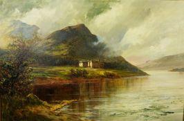 "W. Richards (F.E Jamieson) (Scottish 1895-1950) ""Trossachs Hotel"" Oil on Canvas, Signed, 38.5cm x"