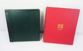 """Stanley Gibbons """"Great Britain"""" Stamp Album, With a Stanley Gibbons """"Devon"""" Stamp Album"""