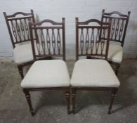 Set of Four Mahogany Parlour Chairs, 90cm high, (4)
