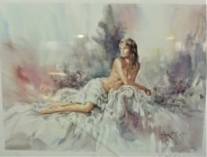 """Gordon King """"Pandora"""" Signed Limited Edition Print, Signed in Pencil, No 435 of 600, 47cm x 59cm,"""