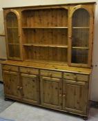 Pine Dresser, 190cm high, 172cm wide, 44cm deep