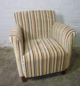 Modern Upholstered Armchair, 83cm high