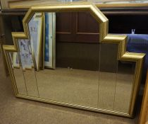 Two Modern Wall Mirrors, One example 77cm high, 105cm wide, (2)