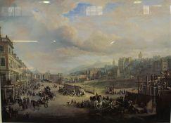 "After Alexander Nasmyth ""Street Scene of Edinburgh"" Print, 54.5cm x 76cm"