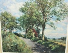 """James McIntosh Patrick """"Country Scene"""" Signed Limited Edition Print, Signed in Pencil, No 125 of"""
