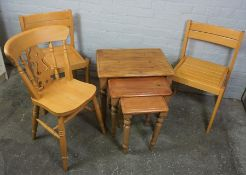 Farstrup of Denmark, Pair of Modern Chairs, 80cm high, With another Chair and a Nest of three