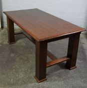 Modern Dining Table, With six matching Chairs, Table 75cm high, 172cm long, 90cm wide, (7)