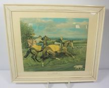 Three Hunting Prints, With six other prints, (9)
