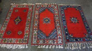 Three similar Persian Style Rugs, 163cm x 85cm, (3)