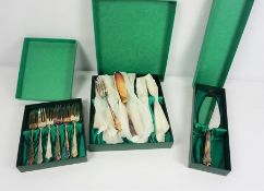 Three Boxes of Part Silver Plated Cutlery