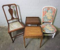 Mahogany Pad Foot Chair, Stamped to the underside number 25918, With a pair of Mahogany Occasional