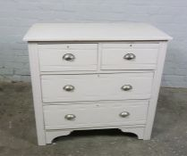 Vintage Painted Chest of Drawers, 83cm high, 92cm wide, 46cm deep