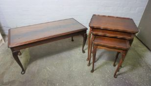 Two Coffee Tables, With a Nest of Three Tables, (a lot)