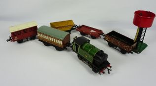 Collection of Thirteen Hornby Guage O Trains Models by Meccano Ltd, To include Cement Wagon, No 1