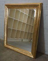 Modern Gilt Framed Wall Mirror, 106cm high, 91cm wide