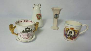 Large Quantity of Crested and Commemorative Wares, Approximately 50 pieces in total