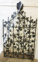 Architectural & Salvage Interest, Antique Wrought Iron Gate, Decorated with a shield shaped