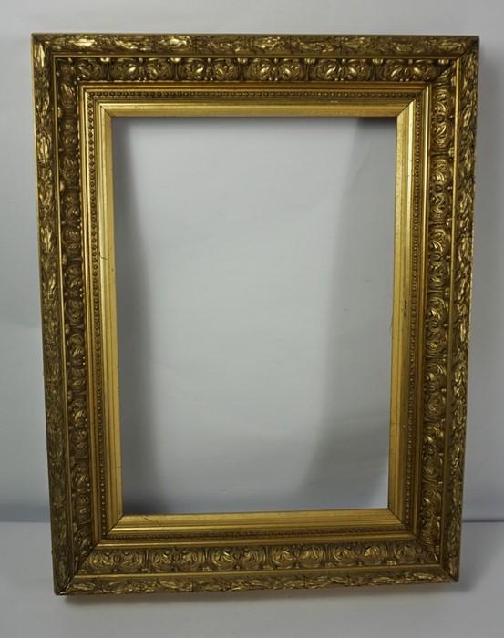 Gilt Picture Frame, circa 19th century, Internal dimensions 50cm x 35cm, External dimensions 70cm