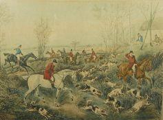 After Henry Alken, Three Titled Hunting Prints, 27.5cm x 37cm (3)