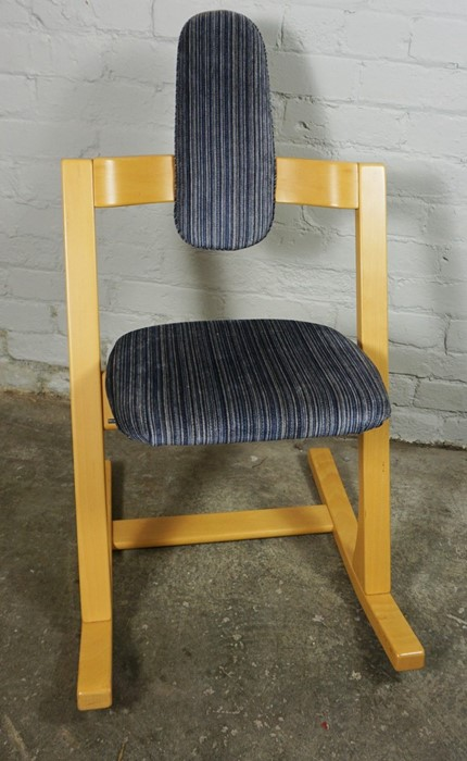 Stokke of Norway, Contemporary Rocking Chair, Having a label to the underside, 92cm high