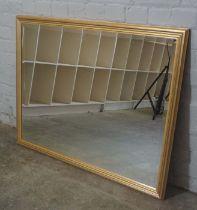 Modern Gilt Framed Wall Mirror, 85cm high, 110cm wide