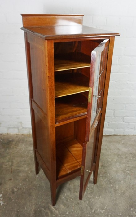 Mahogany Music Cabinet, 129cm high, 45cm wide, 39cm deep, With a Mahogany Nest of Three Tables, 53cm - Image 2 of 7