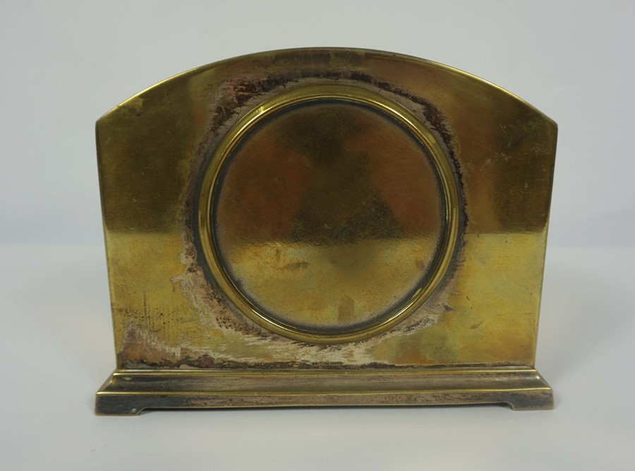 French Brass Cased Mantel Clock, circa late 19th century, 14cm high, With two Reproduction Mantel - Image 5 of 7