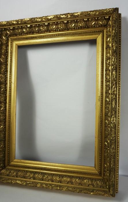 Gilt Picture Frame, circa 19th century, Internal dimensions 50cm x 35cm, External dimensions 70cm - Image 2 of 4