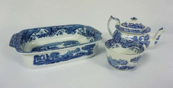 Quantity of Copeland Spode Italian Design Tablewares, To include Dishes, Tea Pot, Bowls, Cups and