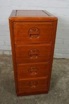Chinese style Hardwood Chest of Drawers, Having four Drawers, 76cm high, 33cm wide, 38cm deep