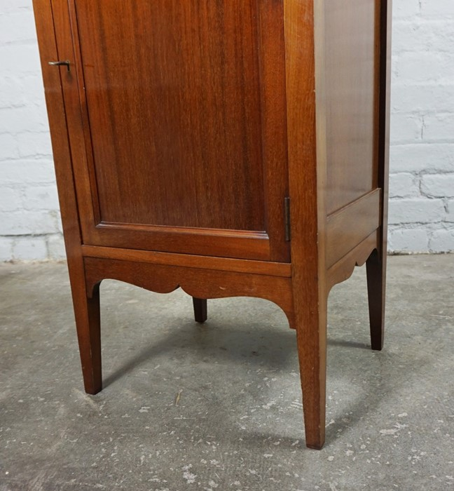 Mahogany Music Cabinet, 129cm high, 45cm wide, 39cm deep, With a Mahogany Nest of Three Tables, 53cm - Image 5 of 7