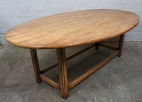 "N.H Chapman & Co ""Siesta"" Newcastle, Alnwick & Carlisle, Burr Drop Leaf Table, Label to the"