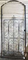 Architectural & Salvage Interest, Antique Wrought Iron Scrolled Gate, 210cm high, 106cm wide, With