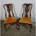 Set of Six Mahogany Splat Back Dining Chairs by Hitchcock, Having a label to the underside, 102cm