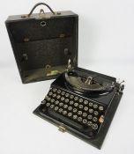 Remington Portable Typewriter, With case
