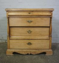 Oak Chest of Drawers, circa 19th century, Having a small Drawer above three long Drawers, 91cm high,