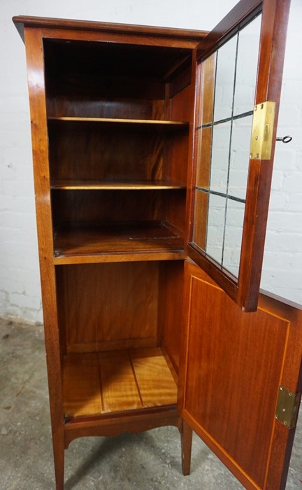 Mahogany Music Cabinet, 129cm high, 45cm wide, 39cm deep, With a Mahogany Nest of Three Tables, 53cm - Image 3 of 7