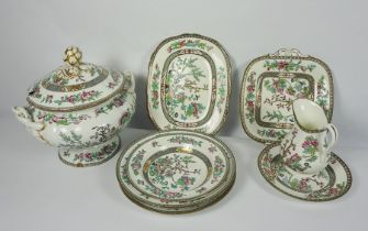 Quantity of Coalport Indian Tree Coral Design Pottery Dinner Wares, To include A Tureen, Dinner