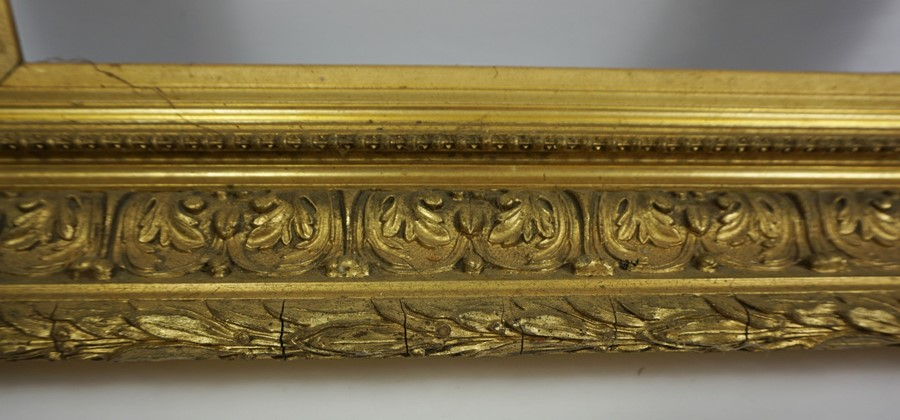 Gilt Picture Frame, circa 19th century, Internal dimensions 50cm x 35cm, External dimensions 70cm - Image 3 of 4