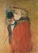 """After Henri De Toulouse Lautrec (1864-1901) """"Couple"""" Lithograph, 64cm x 46cm, Published by Shorewood"""