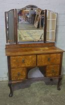Walnut Three Piece Bedroom Suite, Comprising of a single drawer Wardrobe, Dressing Table and Chest