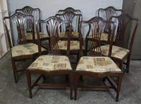 Set of Eight Chippendale style Mahogany Dining Chairs, Comprising of two carver chairs with six side