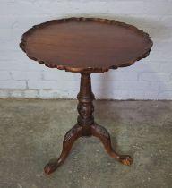 Reproduction Hardwood Tea Table, Having a tilt top, Raised on Ball and Claw feet, 74cm high, 60cm