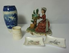 Quantity of Victorian and Later Porcelain & Pottery, To include a Royal Doulton Geneva Pattern Vase,