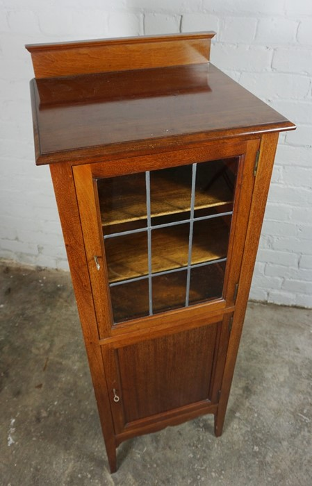 Mahogany Music Cabinet, 129cm high, 45cm wide, 39cm deep, With a Mahogany Nest of Three Tables, 53cm - Image 4 of 7