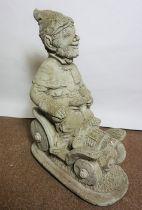 Composite Stone Garden Figure, Modelled as a Knome, 50cm high
