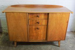 Vintage Walnut Sideboard, 98cm high, 148cm wide, 50cm deep