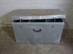 Tin Box, 54 cm high, 87cm wide, 47cm deep With an Instrument Case, (2)