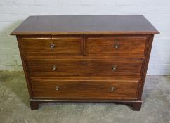 Mahogany Chest of Drawers, 78cm high, 112cm wide, 51cm deep, With a matching Dressing Table, (2)
